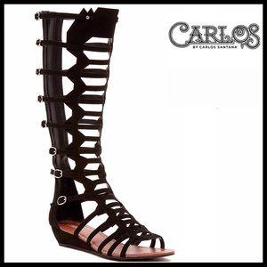 ❤️1-HOUR SALE❤️ CARLOS SANTANA VEGAN SUEDE BOOTS